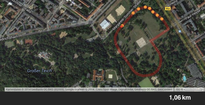 Tempolauf im Volkspark